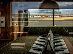 Just wait (Patricia Colleen) Tags: maui airport waitingroom exhausted firstpalmtrees hawaii cantbelieveimhere reflection nicecarpet