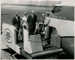 William McPherson Allen (The Boeing Company) and Mrs. Philip G. Johnson, Senior, July 19, 1960 (Shook Photos) Tags: williammallen williammcphersonallen wmmallen billallen boeing board ceo planes jet jets philipgjohnson wapatterson williampatterson unitedairlines 720 36780 707 727 737 747 dash80 theboeingcompany boeingcompany chiefexecutiveofficer