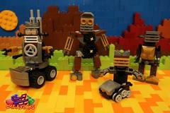 The Droid Family (EVWEB) Tags: lego creations ideas robot mecha droid wheels gears mixels moc klinkers family