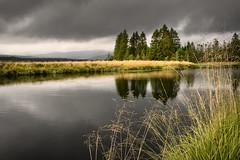 Black Water Of Dee (TrotterFechan) Tags: river dee clouds dark black loch stroan