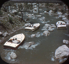 Tomorrowland Reel 3, #4a - Motorboat Cruise Through Roaring Rapids (Tom Simpson) Tags: viewmaster slide vintage disney disneyland 1960s vintagedisney vintagedisneyland