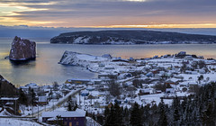 Winter on Percé (Danny VB) Tags: percé village snow winter frozen reflection ice houses ocean atlantic hiver neige canon ef50mmf18ii eos 6d winteronpercé gaspesie quebec canada dannyboy parcnationaldelîlebonaventureetdurocherpercé parcsquébec