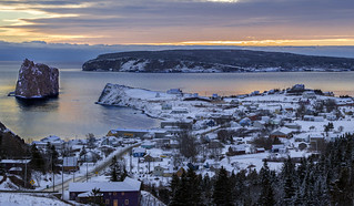Winter on Percé