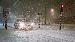 Sneeuw (Arjan Almekinders) Tags: sneeuw snow nacht night sneeuwvlokken flakes