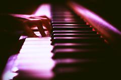 Ivory Tinkler (iratebadger) Tags: nikon nikond7100 nikonphotography nikkor 35mm f18 piano fingers hands child colorefexpro black white vignette inside iratebadger image iso100 indoors home keyboard