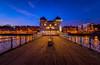 Penarth Pier blue hour (technodean2000) Tags: penarth pier south wales uk pavilion blue hour night lightroom nikon d610 light