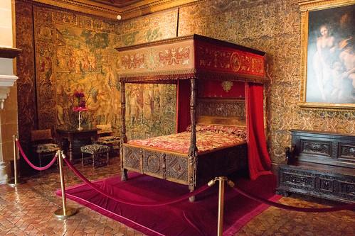 La chambre de Catherine de Médicis au Château de Chenonceau