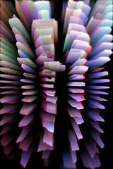 nursery lightsculpture (genelabo) Tags: edited photoshop nursery light sculpture licht installation art genelabo lila purple zoom effect artistic kunst