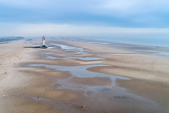 Talacre  #1 (GOLDENORFE) Tags: drone talacre phantom4pro lighthouse northwales beach