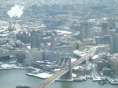 Aerial View, Snow View, Brooklyn Bridge, East River, Brooklyn Bridge Park, One World Observatory, World Trade Center Observation Deck, New York City (lensepix) Tags: aerialview snowview oneworldobservatory worldtradecenterobservationdeck newyorkcity observationdeck