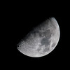 Moon - Waxing Gibbous (Natural Photography by CJH) Tags: moon lunar bw astrophotography firstquarter ikon d500 telephoto 300mm pf f4 300mmf4 300f4 nikkor pfedvr tc14eiii contrast