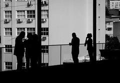Shadows of the day (Luiz Contreira) Tags: riodejaneiro rio brazilianphotographer blackwhite bw brazil brasil streetphotography southamerica américadosul museum window sonya6000 sony sombras silhuetas shadows people pretoebranco pb pessoas