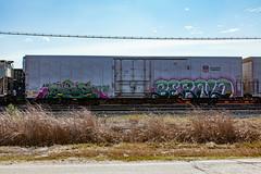 (o texano) Tags: houston texas graffiti trains freights bench benching bernd dib