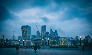 Towers of London Skyline & The Thames by Simon & His Camera