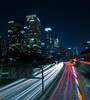 Downtown LA (pi dimension) Tags: pavel ivanov los angeles night long exposure freeway downtown canon