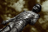 Shooting Statues (Zat Dude Online) Tags: statue fort worth texas south officer sword contrast high zatdudeonline zebulon poe doyle zeb zat dude online black white