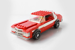 Ford Gran Torino from Starsky & Hutch (with instructions) (hachiroku24) Tags: lego car moc ford gran torino starsky hutch 8wide minifig scale