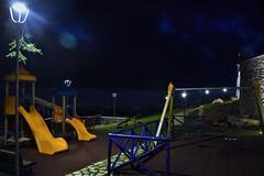 il parco della luna (Vincenzo Elviretti) Tags: parco della luna lucio dalla 1980 castel san pietro romano lazio italia roma giochi altalena lampione sera notte