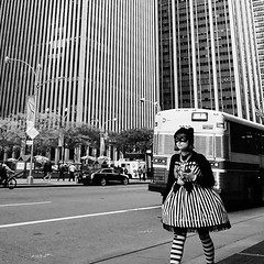 """""""there's no time to lose, I heard her say.. catch your dreams before they slip away.."""" (Bekim Nela) Tags: streetphotography sonyalpha urban candid lines linear people city bw blackwhite manhattan nyc newyork newyorkcity womenofnewyork"""