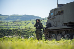 Artillery, Infantry & Armored Corps Exercise in the Golan (Israel Defense Forces) Tags: idf israel green spring winter soldiers training tanks spg apc cow blossom galilee night medics military army