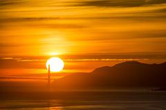 fireball (eb78) Tags: ca california eastbay sunset goldengatebridge berkeley northbay sun