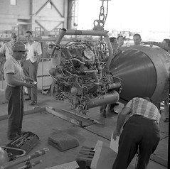 Atlas Collection Image (San Diego Air & Space Museum Archives) Tags: toolbox clevis hardhat lifting 1959 factory industrial workers liftingfixture nostep stainlesssteeltubing tubing suspendedload