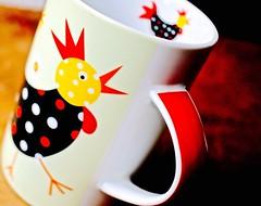 Funky Punky Chicken mug : o ) (Kez West) Tags: smileonsunday mug cup chicken bright colourful fun cupsandmugs spotty spots easter
