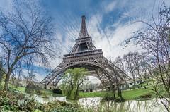 A sunday walk (aurlien.leroch) Tags: toureiffel paris fisheye nikon d7100 monument eiffeltower cityscape