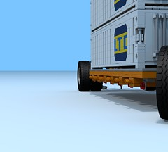 W.I.P. Overland Train Trailer (The Driving Dutchman) Tags: truck lego wip trains outback trucks trailer oilfield logistics overland povray ldd oilfieldtruck ldd2povray