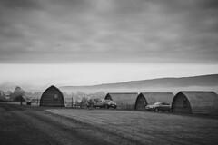 Misty morning, glamping (Hey hey JBA) Tags: blackandwhite bw mist monochrome scotland blackwhite stirling sigma trossachs dunblane wigwams c1 thornhill pighuts 1750mm glamping d3100