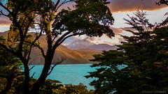chile blue trees light sunset wild wallpaper orange cloud patagonia sun sunlight mountain lake mountains color tree green art southamerica colors clouds trekking landscape outdoors photography landscapes photo amazing colorful paradise outdoor teal wildlife paisagem hike adventure frame torresdelpaine paraiso montanha patagoniachile hikint