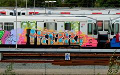 Graffiti (oerendhard1) Tags: urban streetart art train graffiti rotterdam metro painted vandalism ret maer
