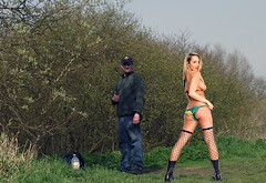 indian summer 003 (team stalker) Tags: woman lake sexy stockings panties fishing shiny boots blonde fishnets carp satin milf pvc sexylegs carpie