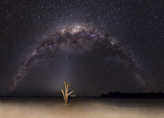 Milky Way above Lake Dumbleyung