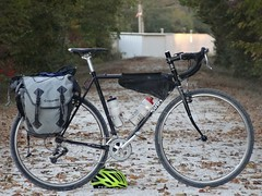 Surly Crosscheck (pavementgraveldirt) Tags: bike bicycle bag giant tour katy steel rear cx trail frame load surly touring cyclocross railstotrails tourer pannier crosscheck overnighter 700x38
