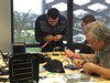 Maker Tuesday activity (College of San Mateo Library) Tags: soldering elwire collegeofsanmateo electroluminescentwire makerspace csmlibrary makerspaces collegeofsanmateolibrary makertuesday