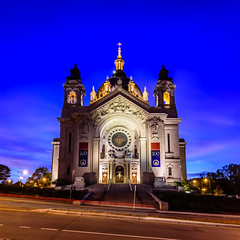 Cathedral of Saint Paul (imagenusphoto) Tags: church minnesota architecture us catholic unitedstates cathedral hill stpaul bluehour saintpaul hdr nauticaltwilight imagenusphotography
