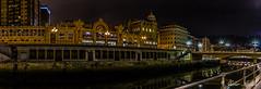 Iluminando la ria..... (Javier Arcilla) Tags: españa luces pentax bilbao ciudades panoramica nocturna cielos ria hdr euskadi vizcaya paisvasco pentax1855mm pentaxk50