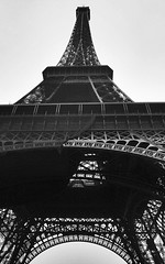 Somewhere in France (35mm) (jcbkk1956) Tags: blackandwhite paris france film analog 35mm mono pentax eiffeltower slide scanned converted manual worldtrekker