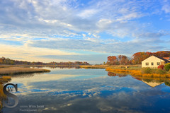 Gulf Pond this morning just after sunrise (Singing With Light) Tags: november autumn fall colors sunrise reflections photography pier sony ct milford 7th 2015 mirrorless bayviewbeach sonykitlens sony16mm28 singingwithlight singingwithlightphotography gulfpond alpha6000 sonya6000 lightjj buckinghamavenua