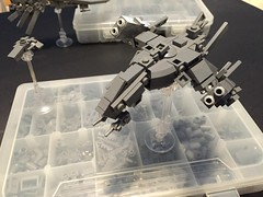 Torpedo thingies articulated now! ([TGS]) Tags: lego space wip spaceship mecha microspacetopia