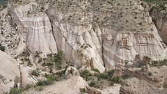 Atop the mesa looking down at the 'tent' rock formations at Tent Rocks NM