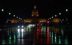 Beautiful Paris by night- Night view on the Invalides (jackfre2) Tags: paris france rain night reflections invalides nightview wetpavement accessible notsprawling