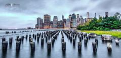 New York City (Kofla Olivieri) Tags: eastriver adobephotoshopelements manhattan nyc skyline nikon koflaolivieri dumbo pier new york night