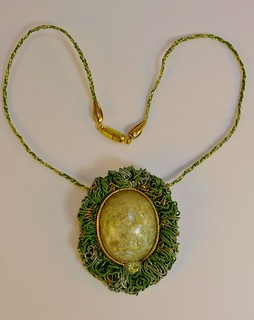 Olive Green Opal Necklace