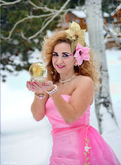 Pretty in Pink (All About Light!) Tags: fashion glamour prettyinpink snowprincess longdresses arthurkochphotography