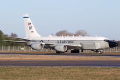 United States Air Force RC-135W Rivet Joint 62-4138 'OF' (Samuel Pilcher) Tags: usaf rc135w rj rivetjoint 624138 of offutt afb mildenhall england uk 2016 military aviation sam samuel pilcher reconnaissance squadron intel isr baltic patrol rc135 lund37 343 343rs unitedstatesairforce raven