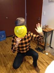 El Dorko Me Sept 2016 (ianulimac) Tags: smiley me haveaniceday duh eldorko nerd horsing around balloon face smile yellow