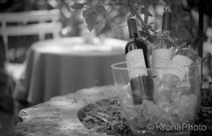 Welcome to France (KronaPhoto) Tags: 2016 frankrike sommer bnw france provence travel wine bottles welcome vin backyard cosy decorated tourism dof bokeh food drink table invite tablefortwo