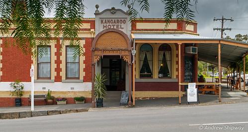 The Kangaroo Hotel(1860's),Maldon, Victoria.